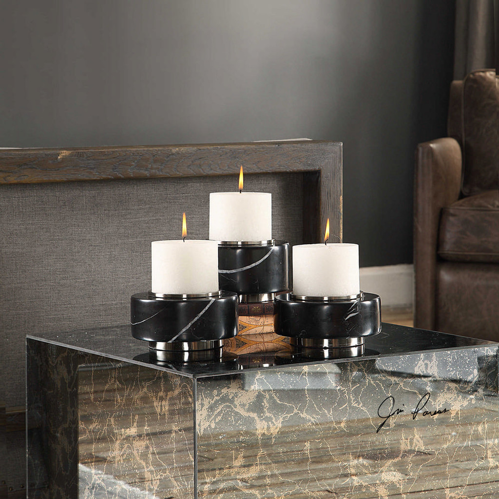 Alice Candleholders S/3 by Uttermost