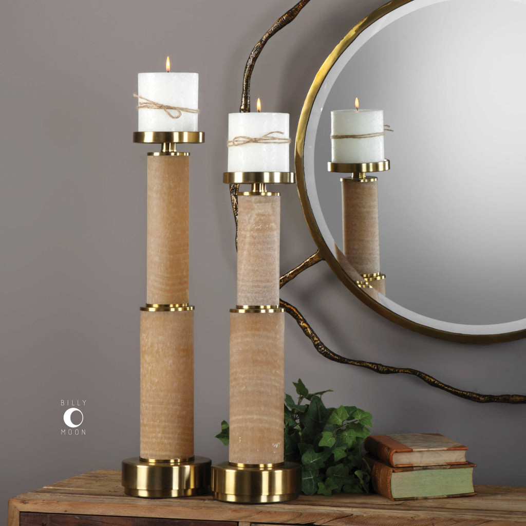 Athea Candleholders S/2 - by Uttermost