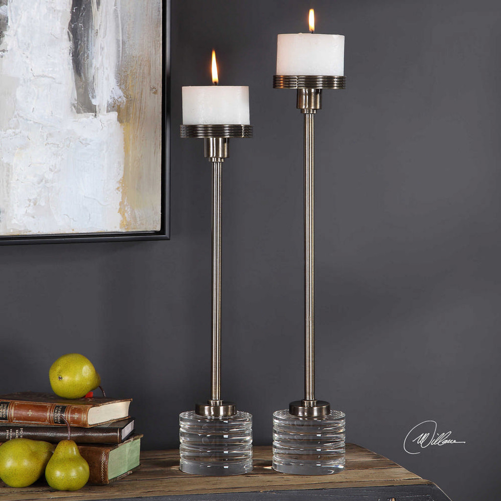 Lia Candleholders S/2 by Uttermost
