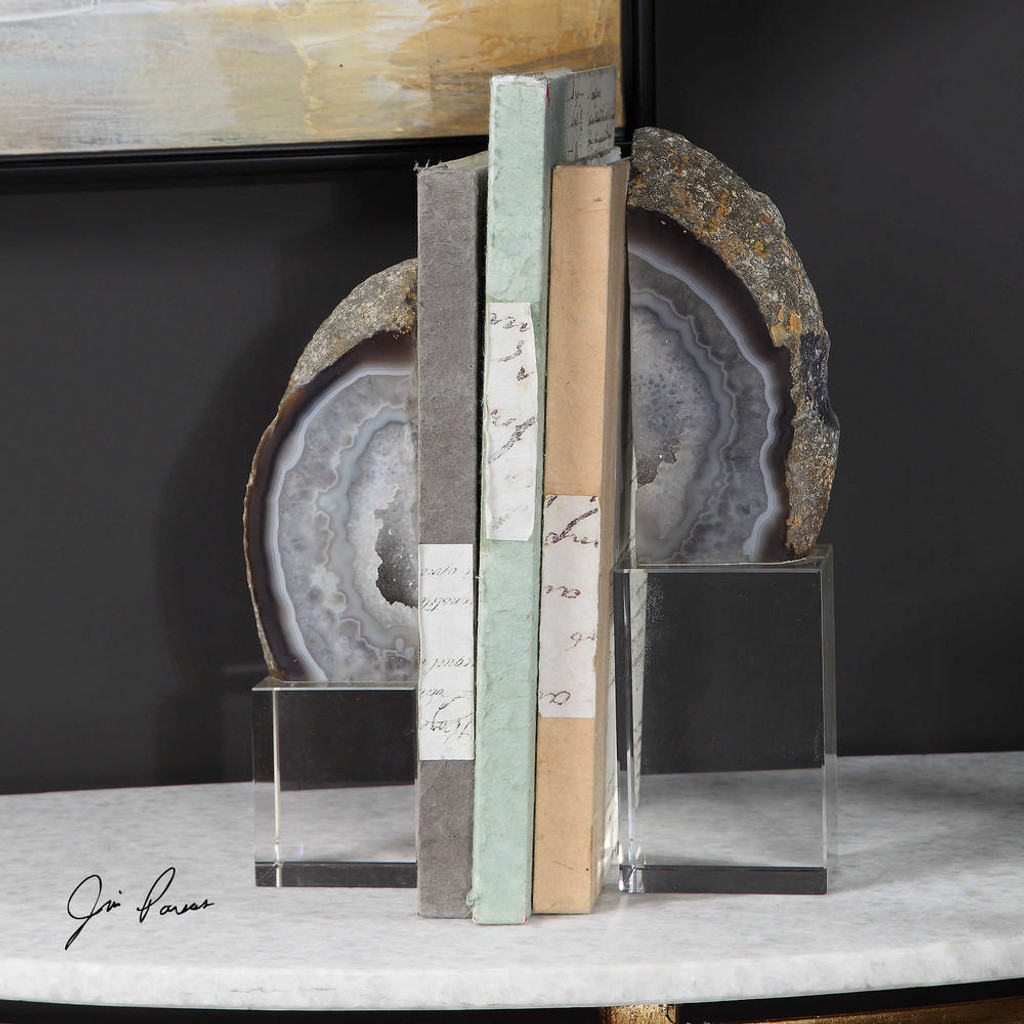 Amiya Bookends S/2 by Uttermost