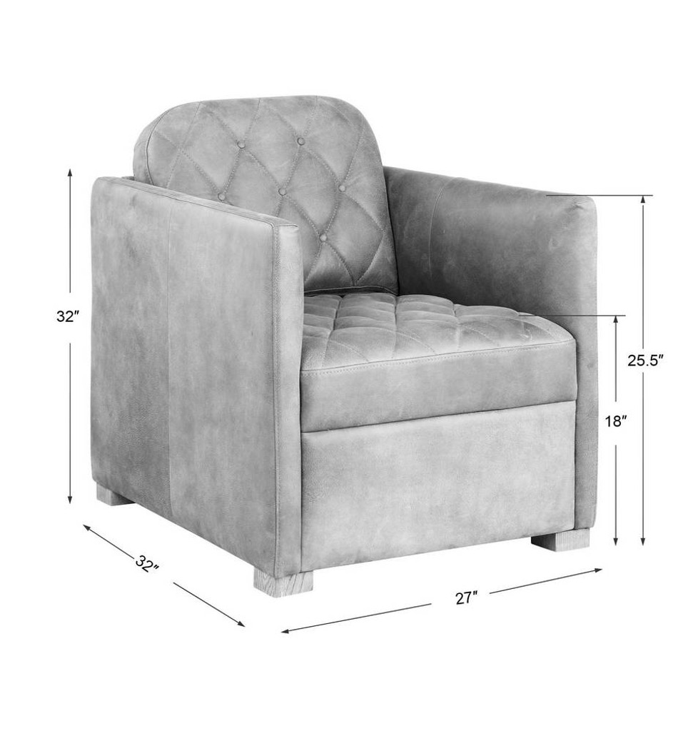 Kennedy Leather Club Chair by Uttermost