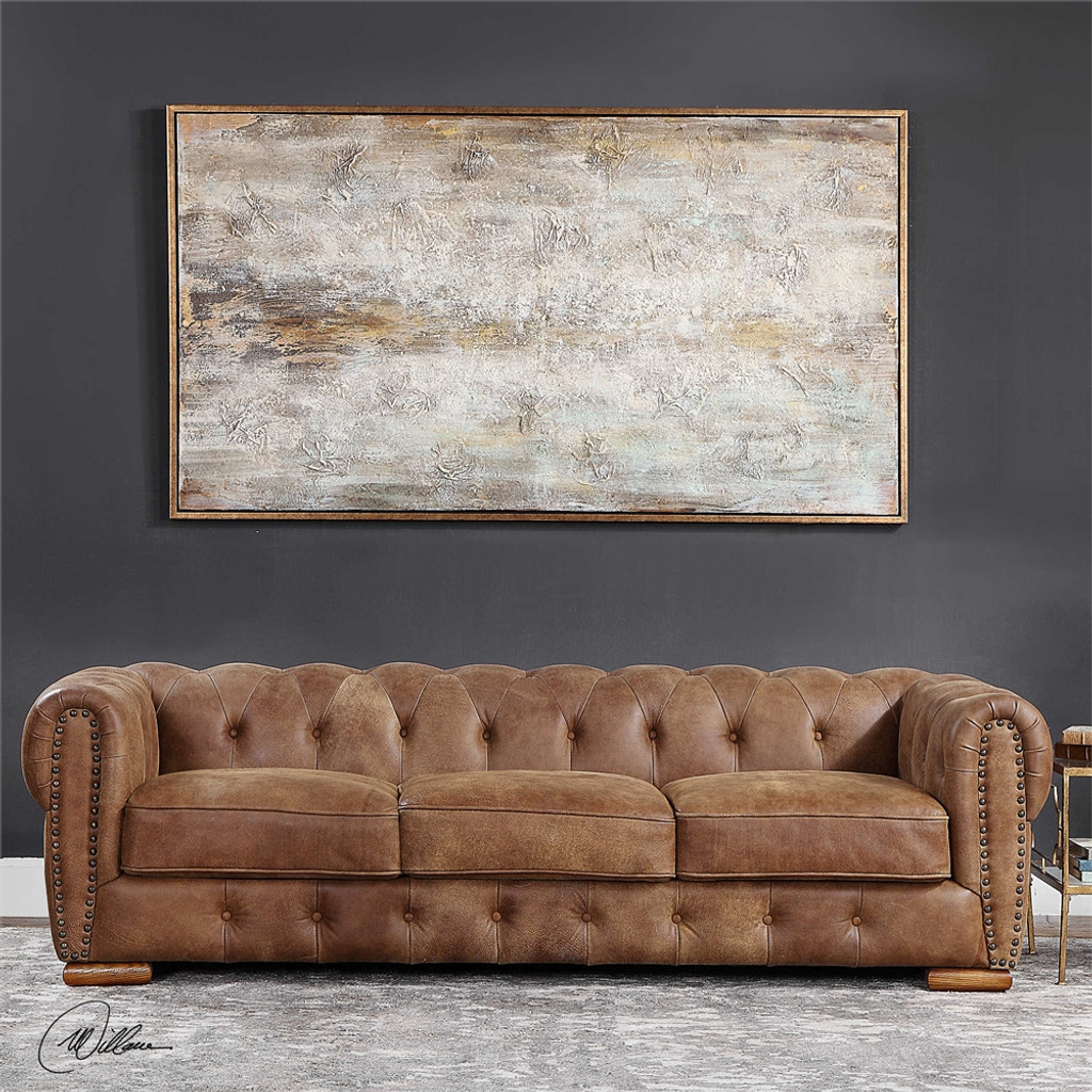Johnson Leather Sofa - by Uttermost