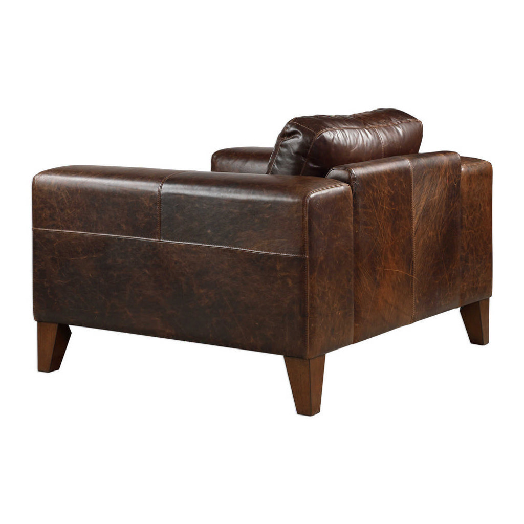 Cormic Leather Lounge Chair