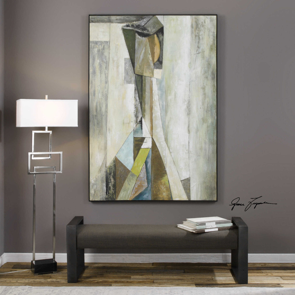 Shattered Reflection Hand Painted Canvas by Uttermost