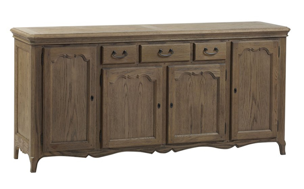 Bella House Paris 4 Door Sideboard - French Oak
