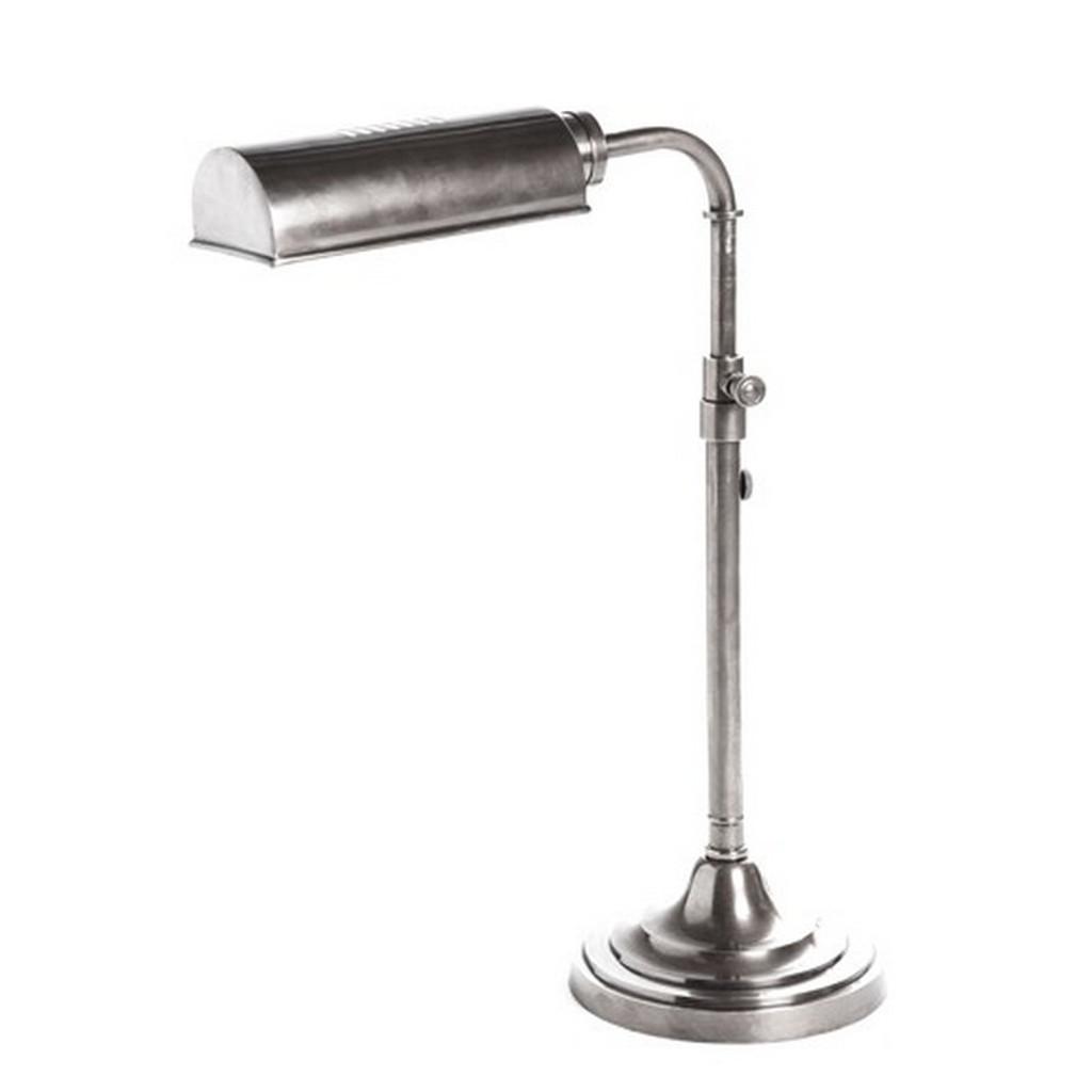 Brooklyn Desk Lamp - Antique Silver