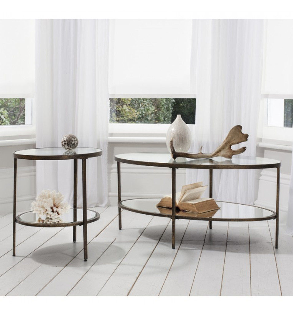 Henley Glass Side Table and Henly Glass Coffee Table