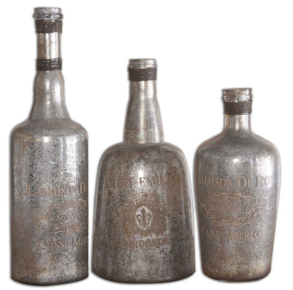 Lamaison Bottles S/3 by Uttermost