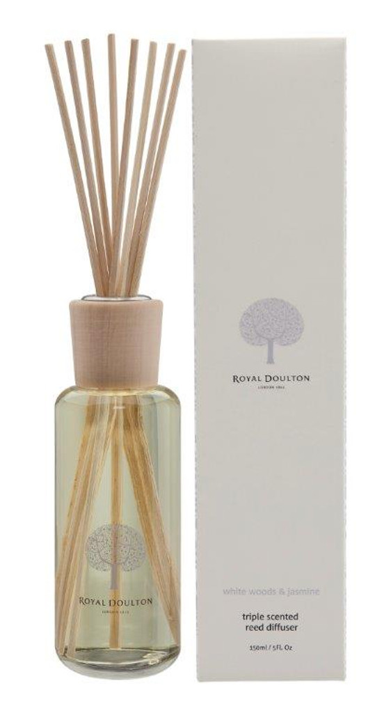 Royal Doulton Fable Mini Reed Diffuser 150mL - White Woods & Jasmine