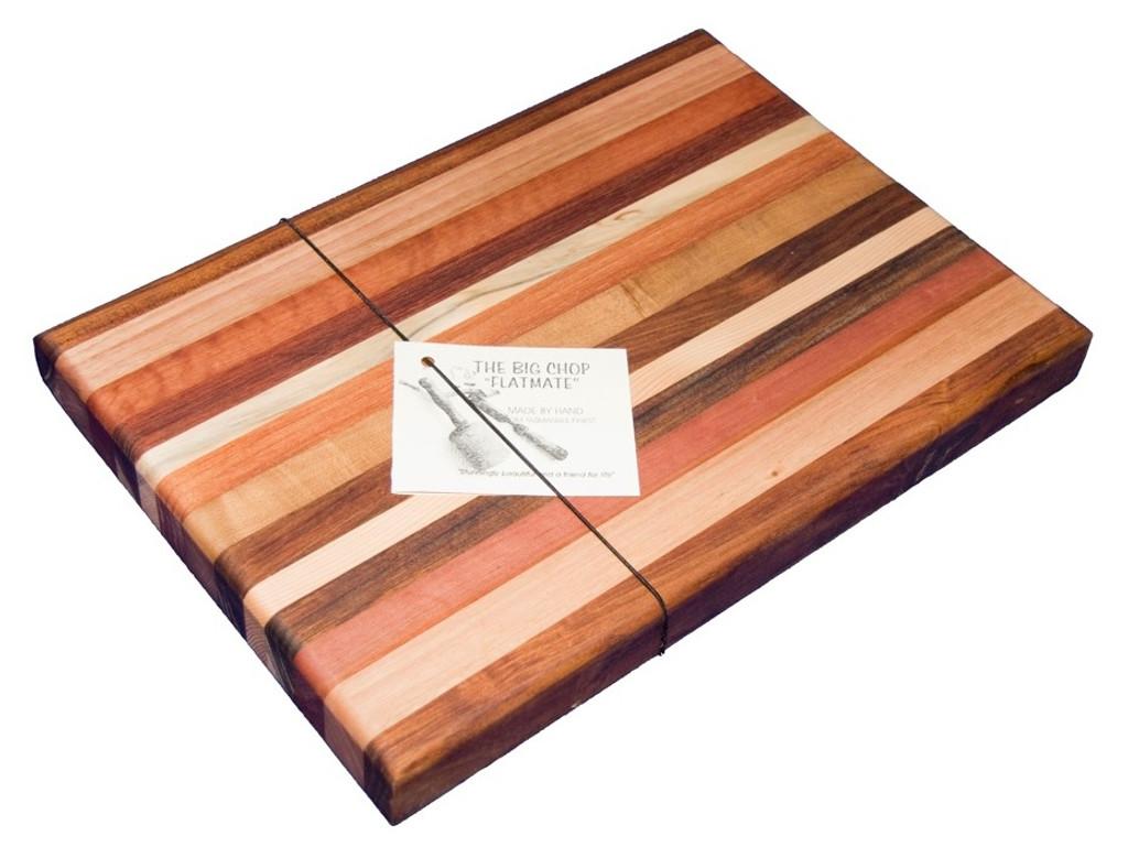 The Big Chop rectangle chopping board 5 timbers (flatmate 2)