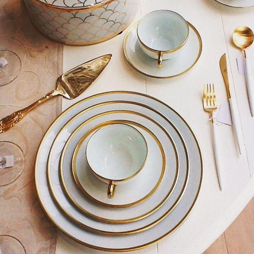Limoges Legle Premium White Gold Dinner Set