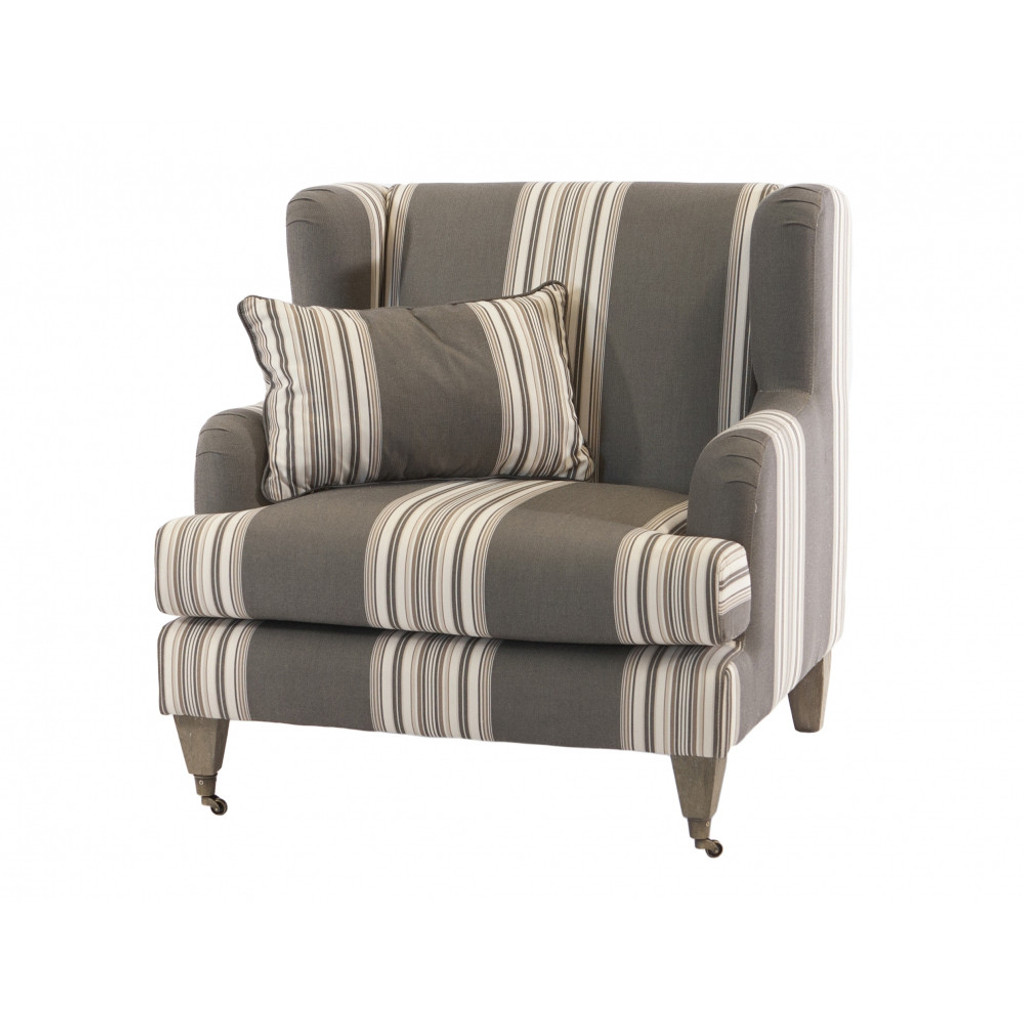 Lyon Wing Armchair - Striped