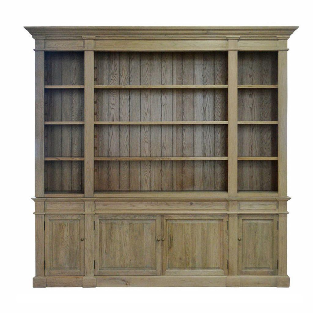 Reims Library Bookcase / TV Media Unit - Natural Oak