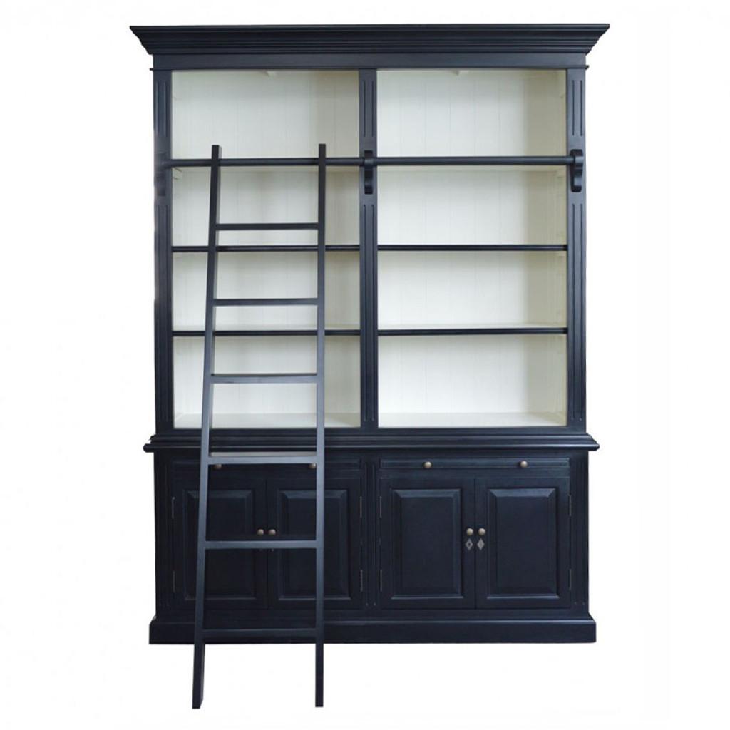 Harrington 2 Bay Library Bookcase - Black/White