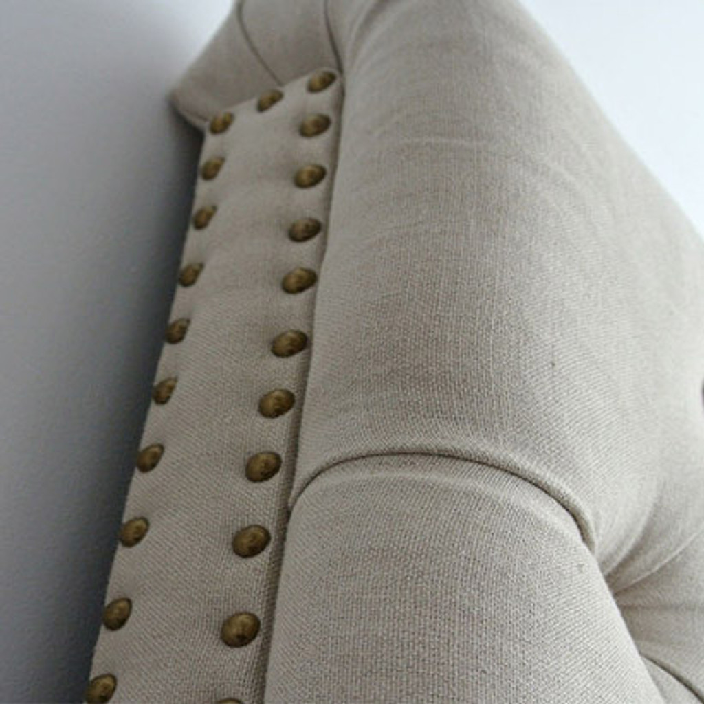 Marquis Upholstered King Headboard - Bronze Studs