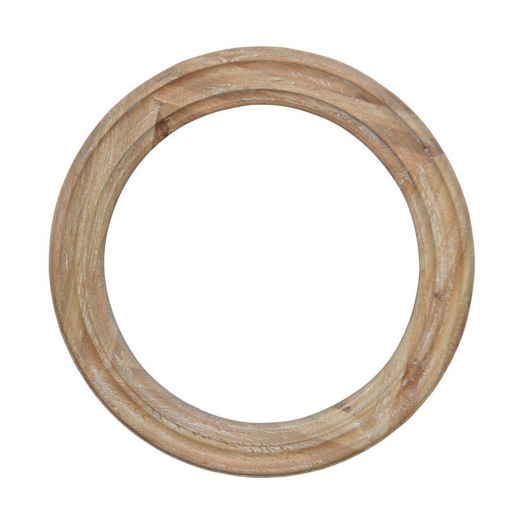 Ondine Circular Mirror - White Washed Oak