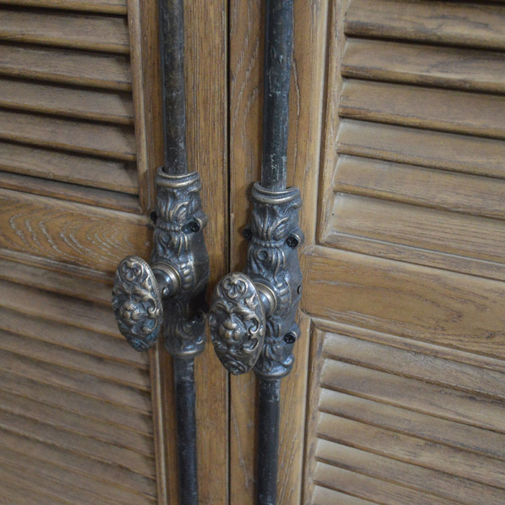 French Panel Double-Door Closed Cabinet - Hardware detail
