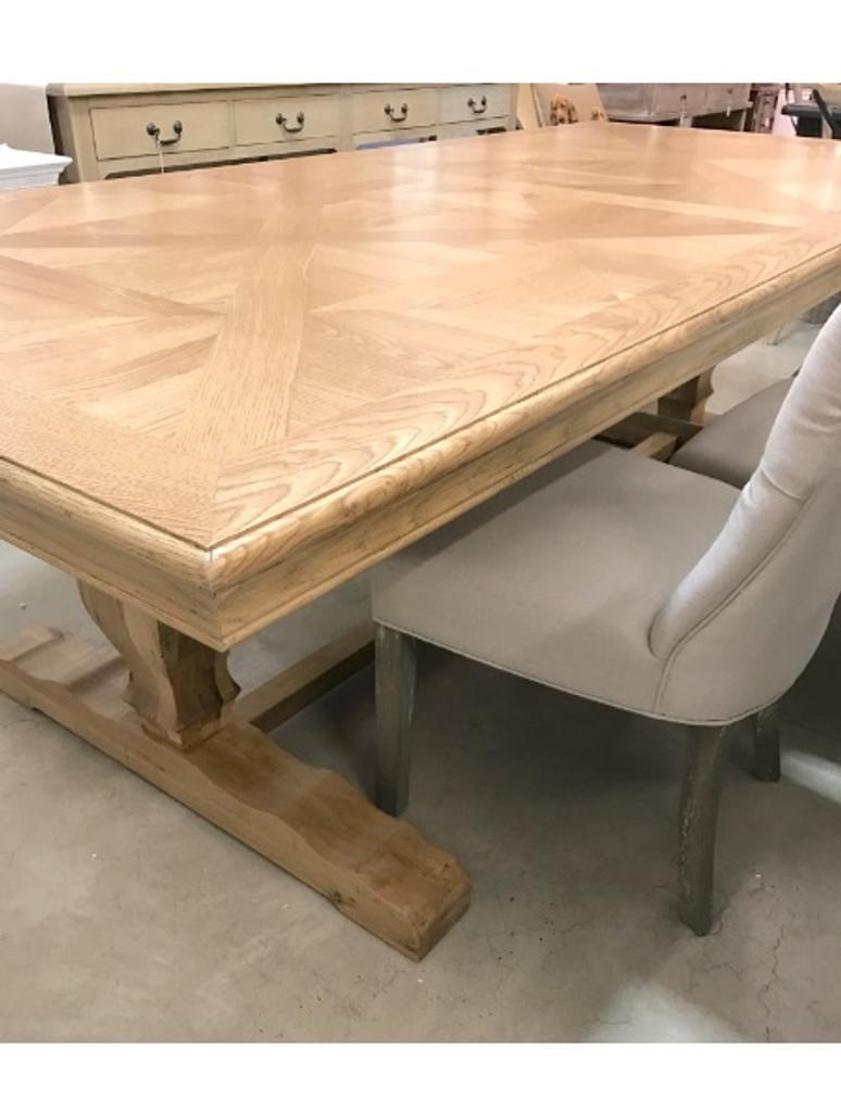 Parquet Trestle Dining Table