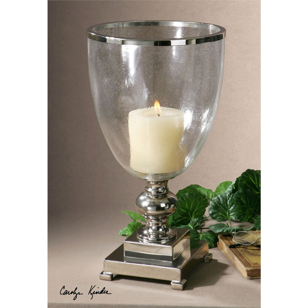 Lino Hurricane Lamp by Uttermost