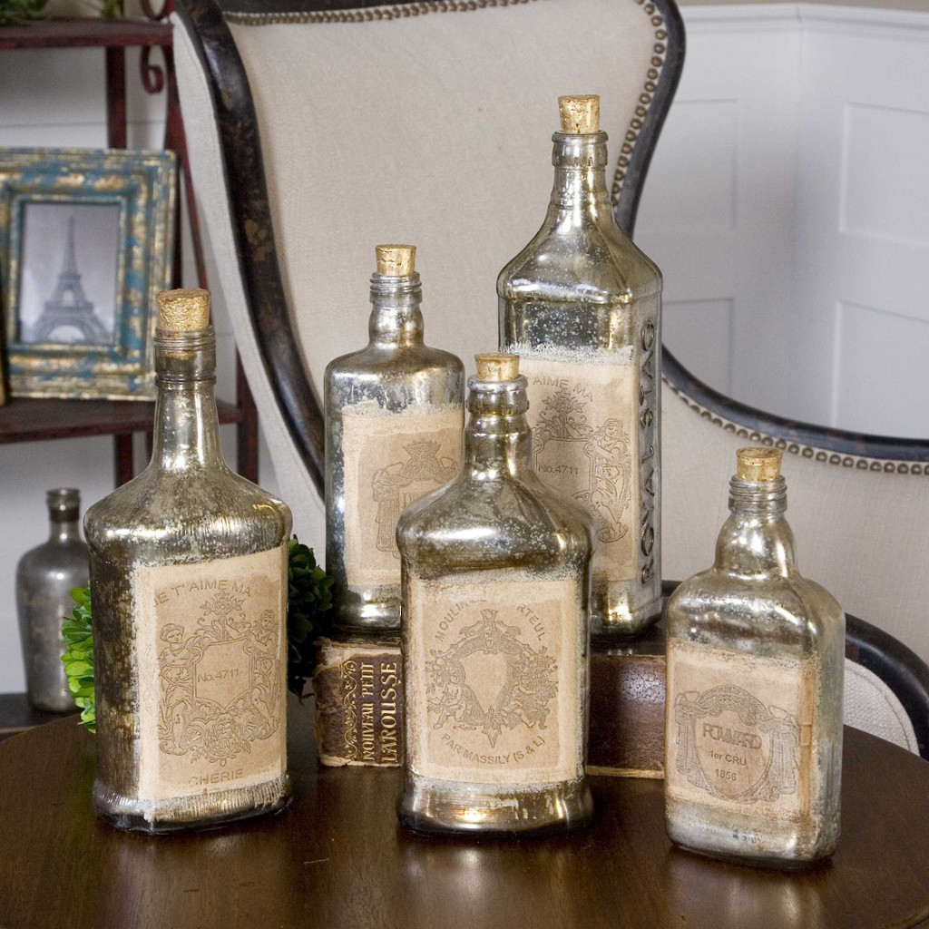 Recycled Bottles S/5 by Uttermost