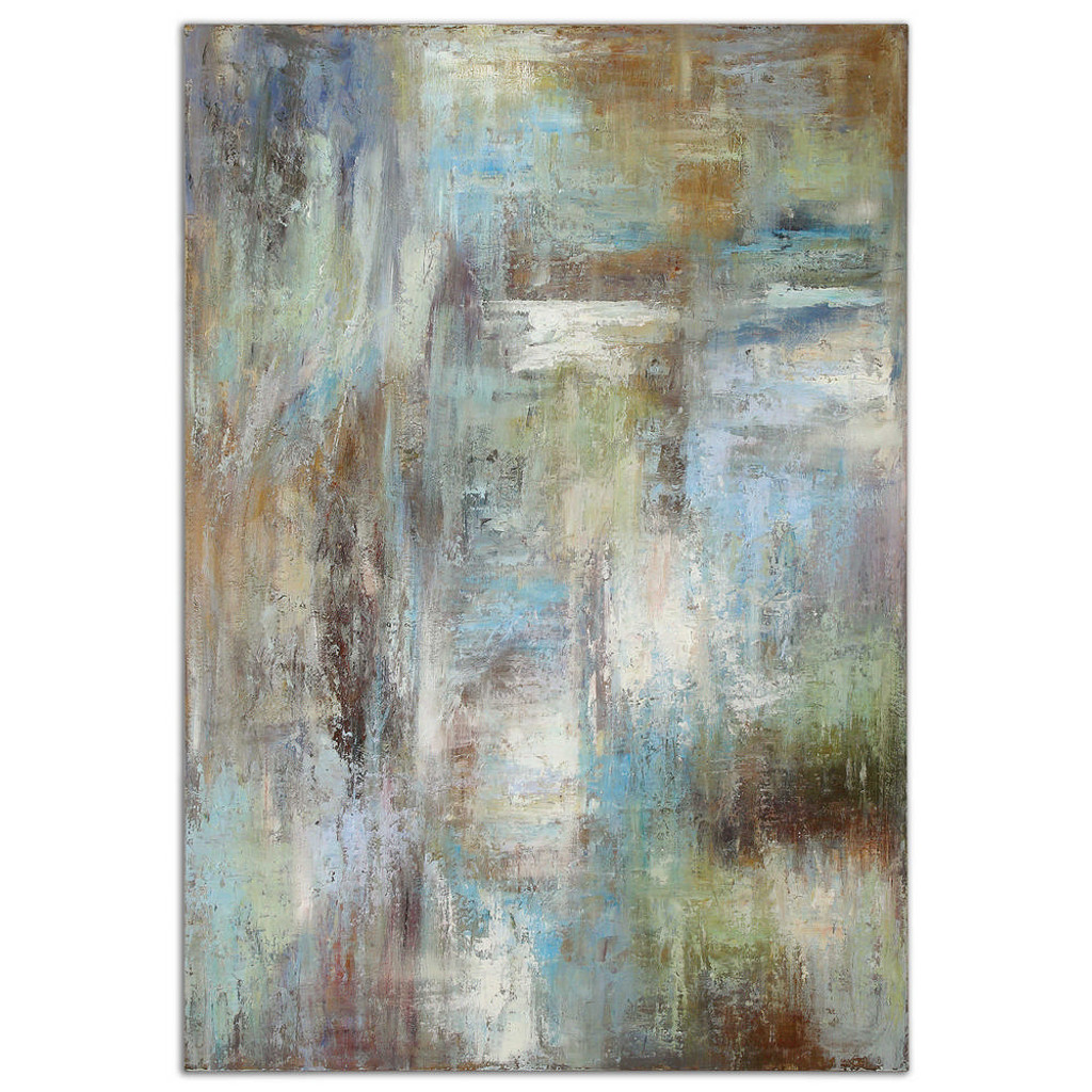 Dewdrops Hand Painted Canvas by Uttermost