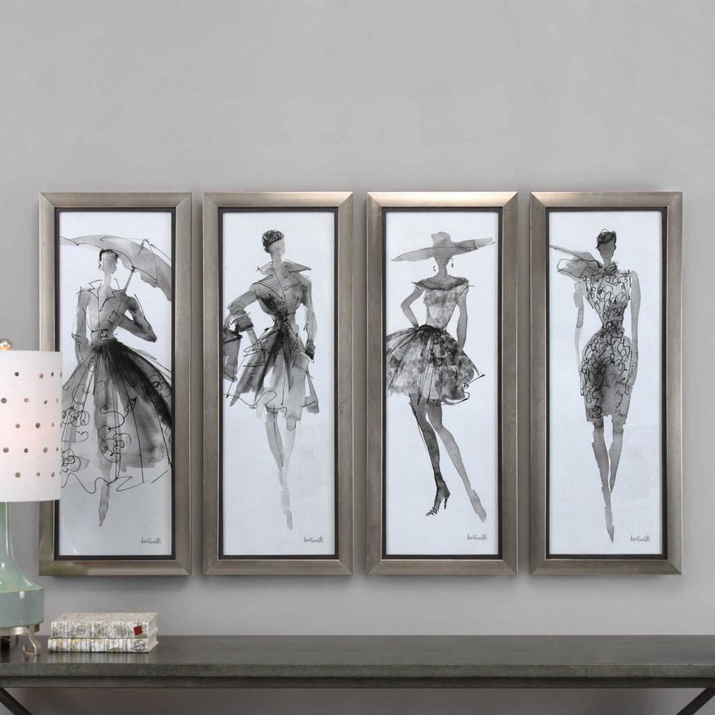 Fashion Sketchbook Framed Prints S/4