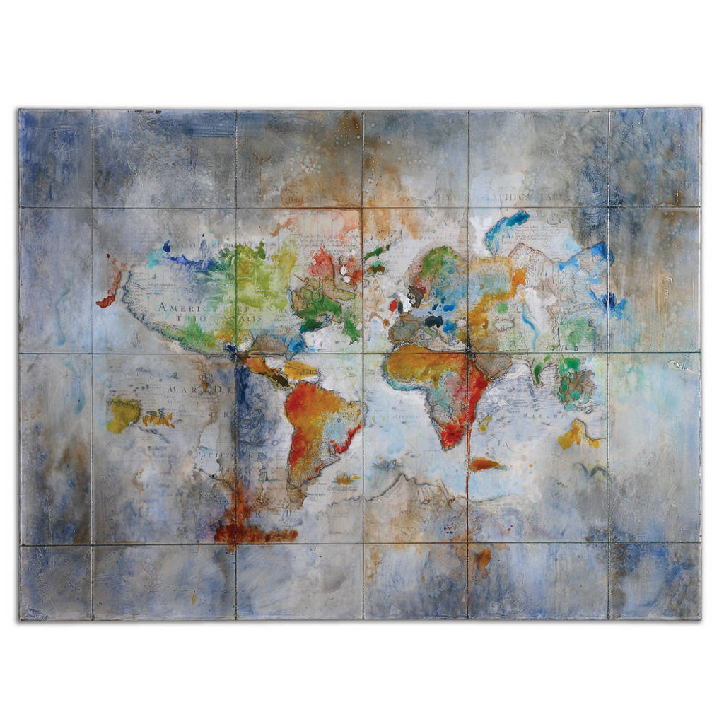 World Of Color Hand Painted Canvas by Uttermost