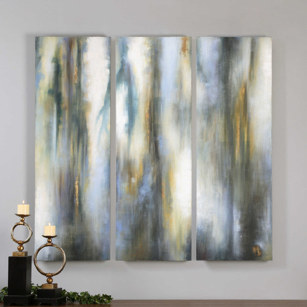 Moonglow Hand Painted Canvases S/3 by Uttermost