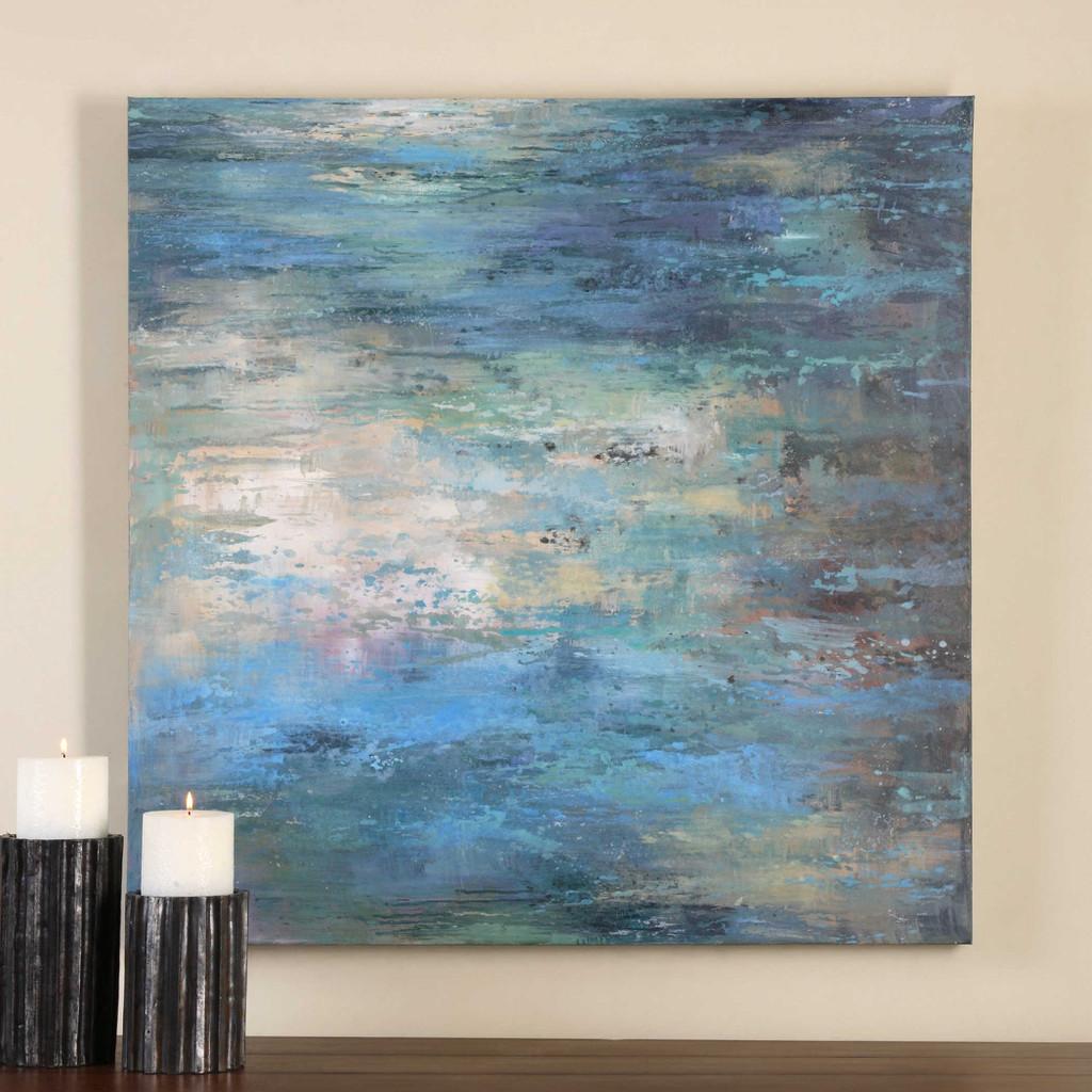 Splish Splash Hand Painted Canvas by Uttermost