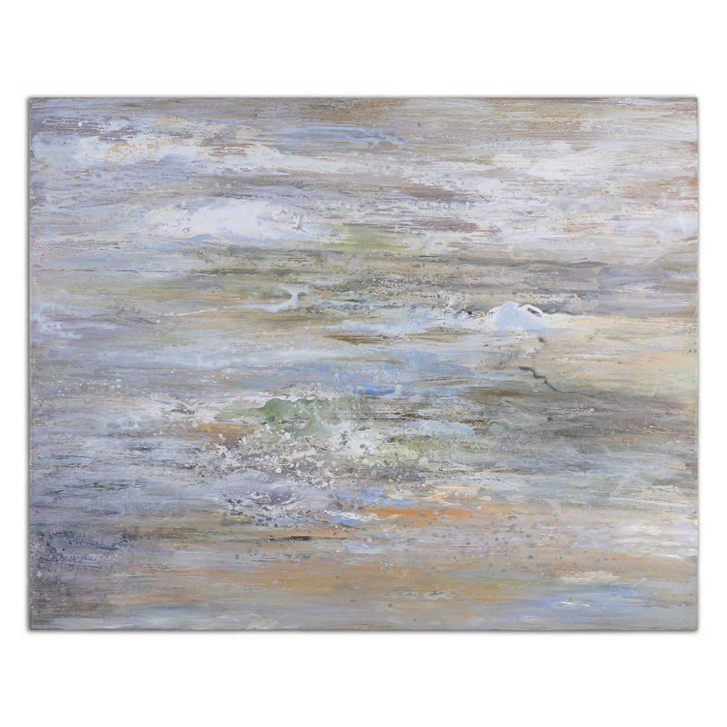 Misty Morning Hand Painted Canvas by Uttermost