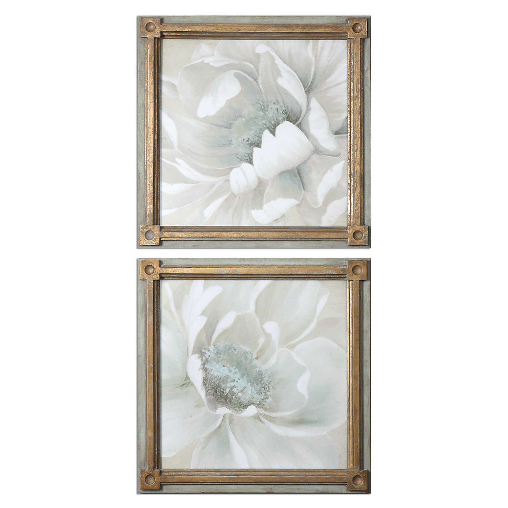 Winter Blooms Framed Prints S/2 by Uttermost