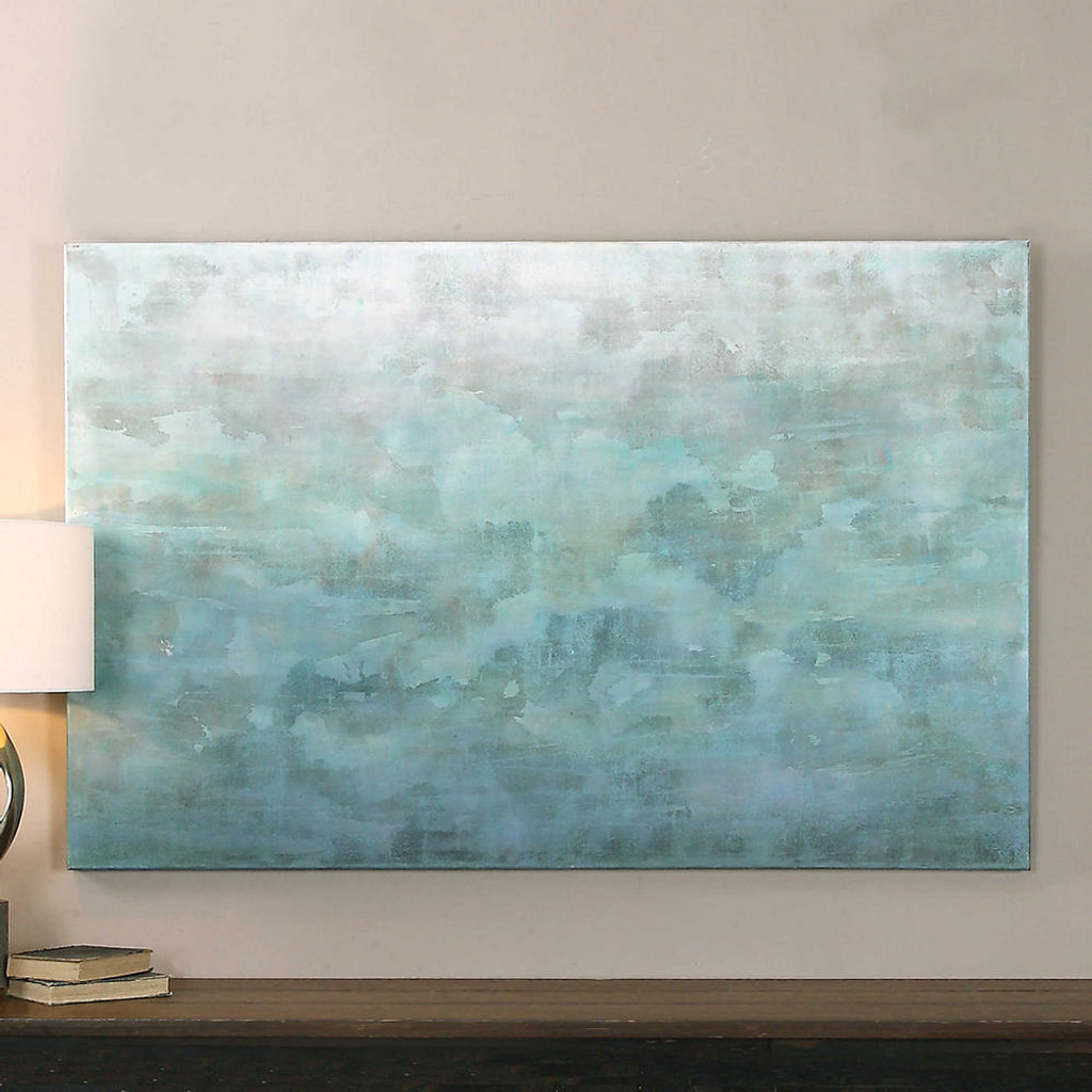 Frosted Landscape Hand Painted Canvas by Uttermost