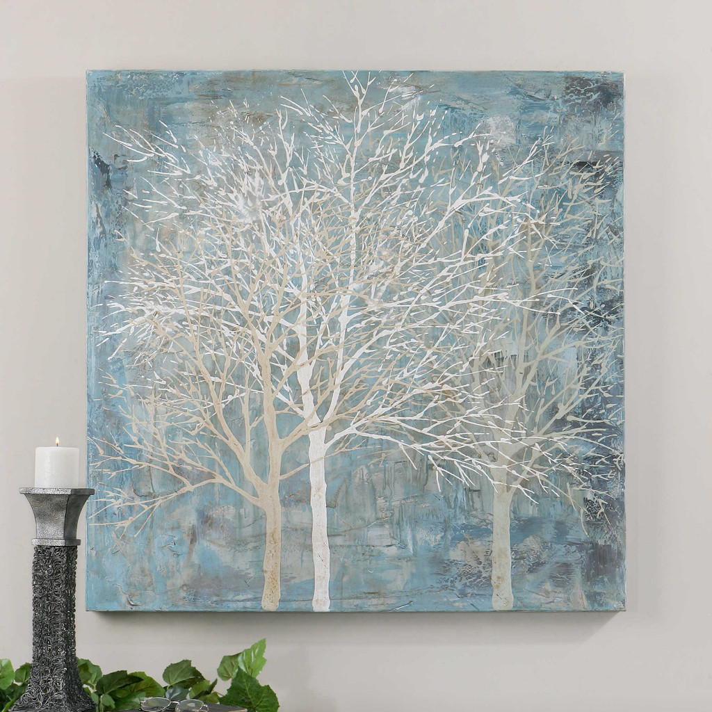 Muted Silhouette Hand Painted Canvas by Uttermost