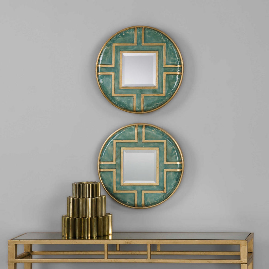 Amina Round Mirrors S/2 by Uttermost