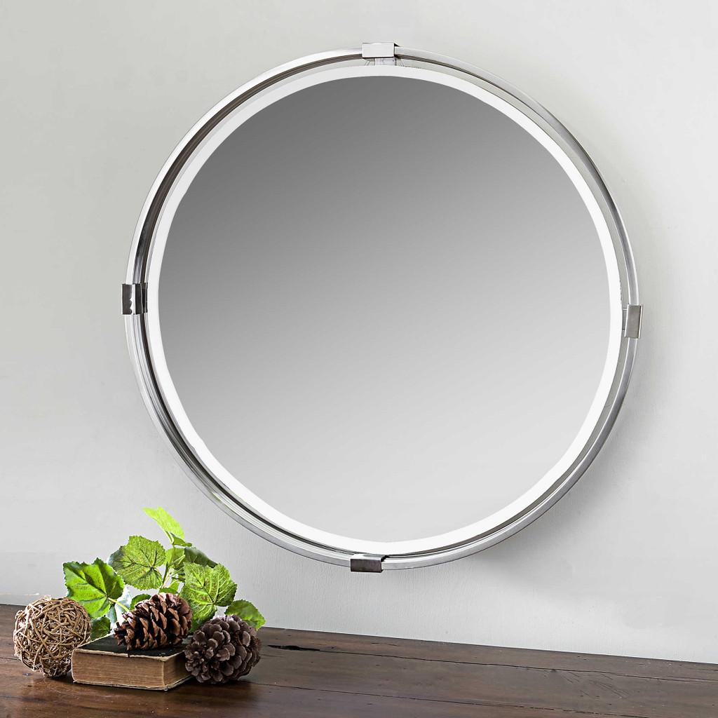 Tazlina Round Mirror by Uttermost