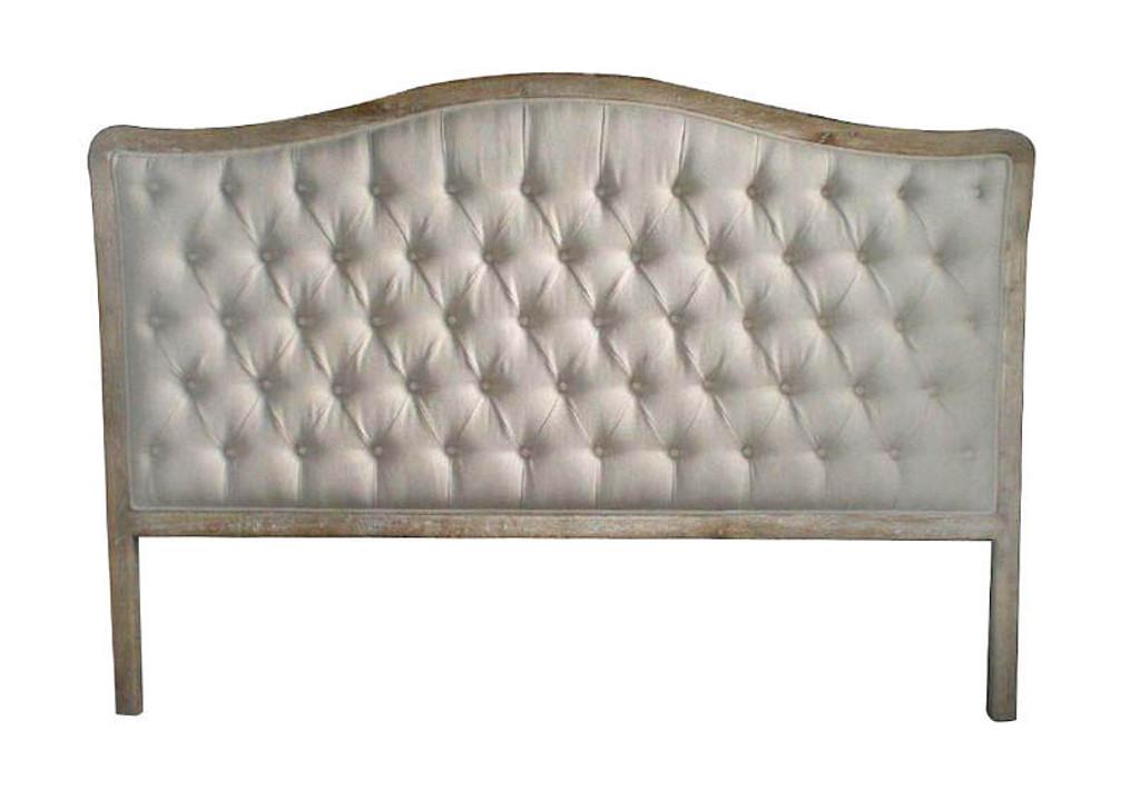 Antoinette Queen Headboard - Natural Linen