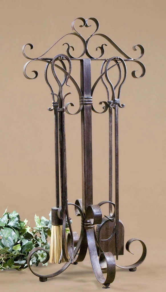 Daymeion Fireplace Tools S/5 by Uttermost