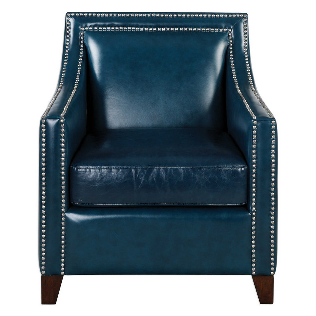 Kelso Leather Accent Chair by Uttermost