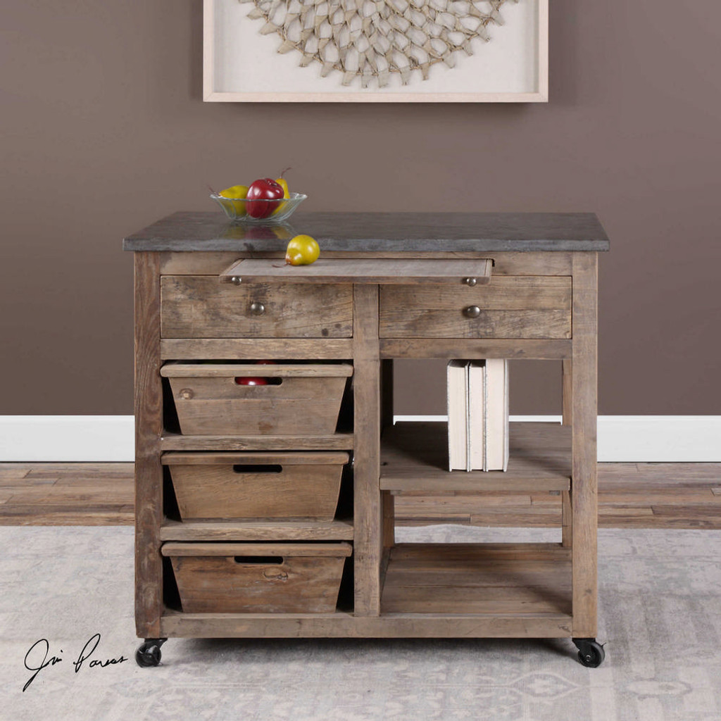 Braylon Kitchen Island by Uttermost