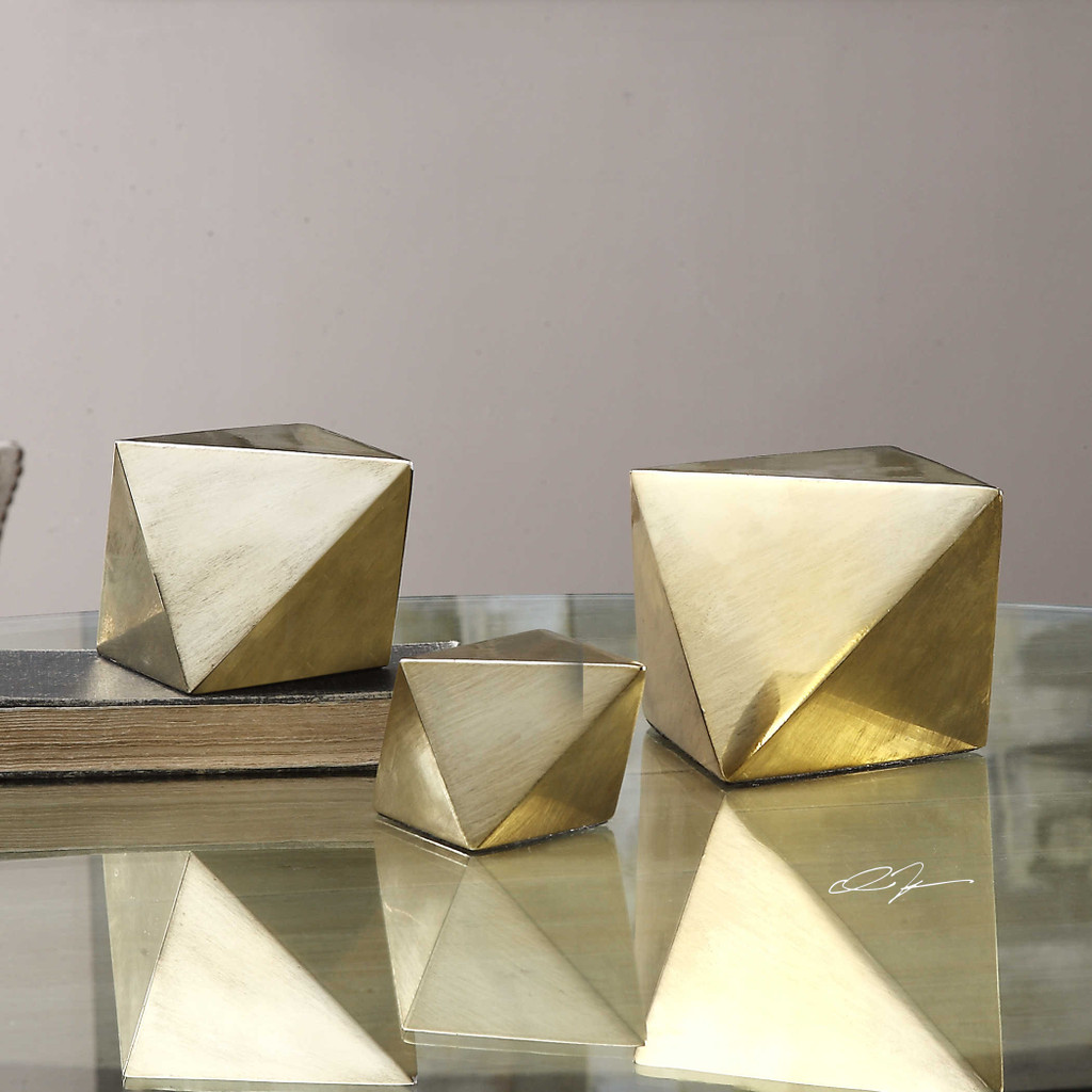 Rhombus Sculptures S/3 by Uttermost