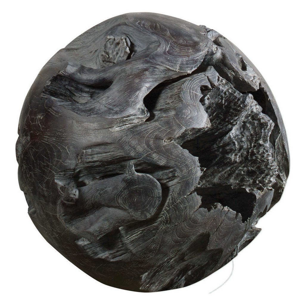 Deco Teak Ball by Uttermost
