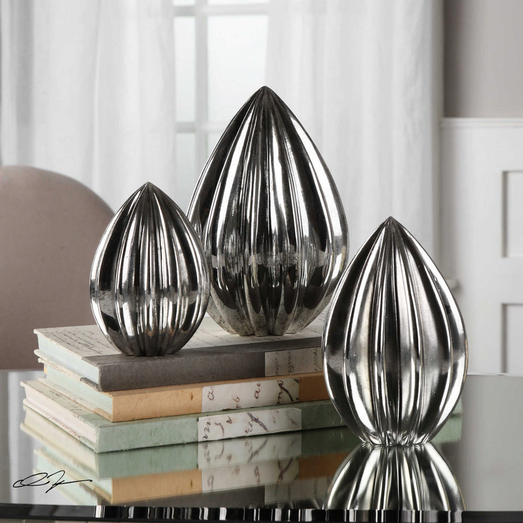 Gerardo Finials S/3 by Uttermost