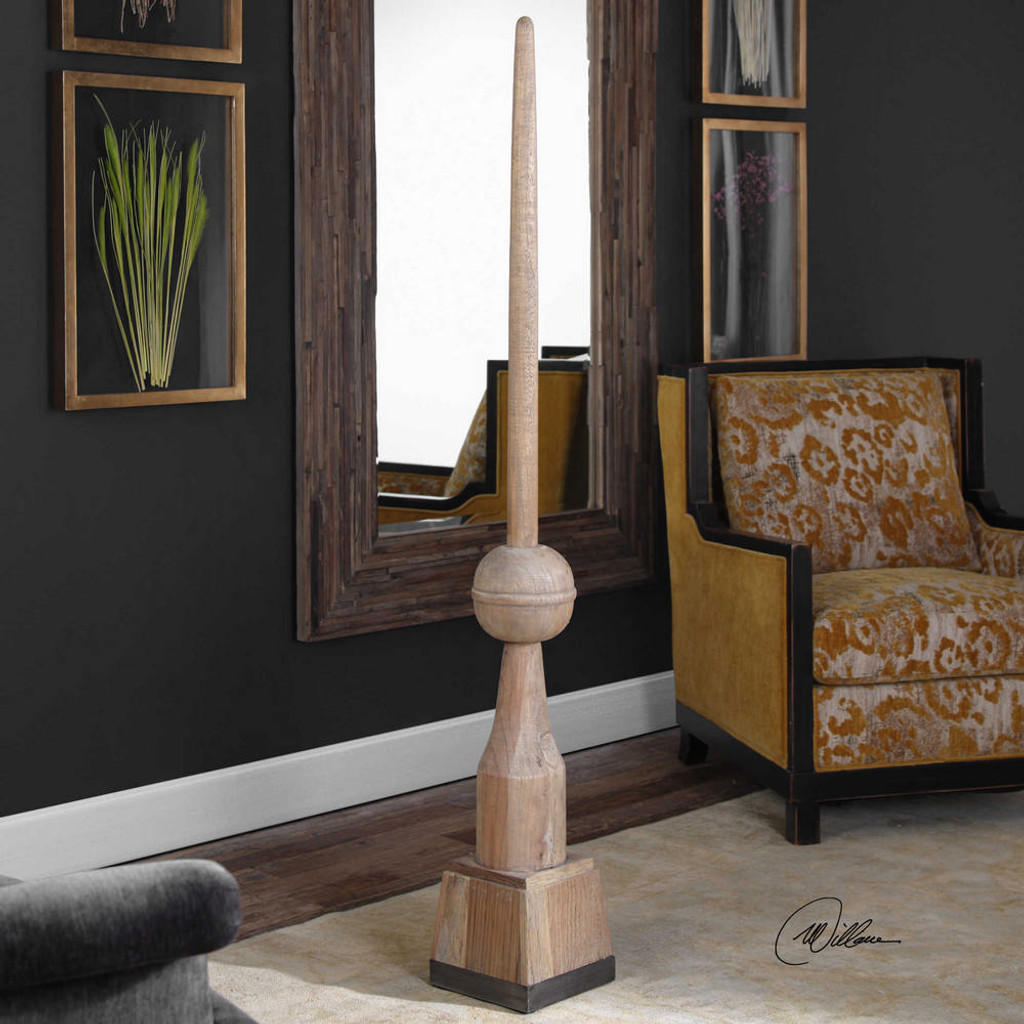 Filippo Floor Finial Natural by Uttermost