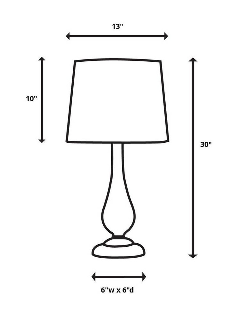 Cloverly Table Lamp 2 Per Box