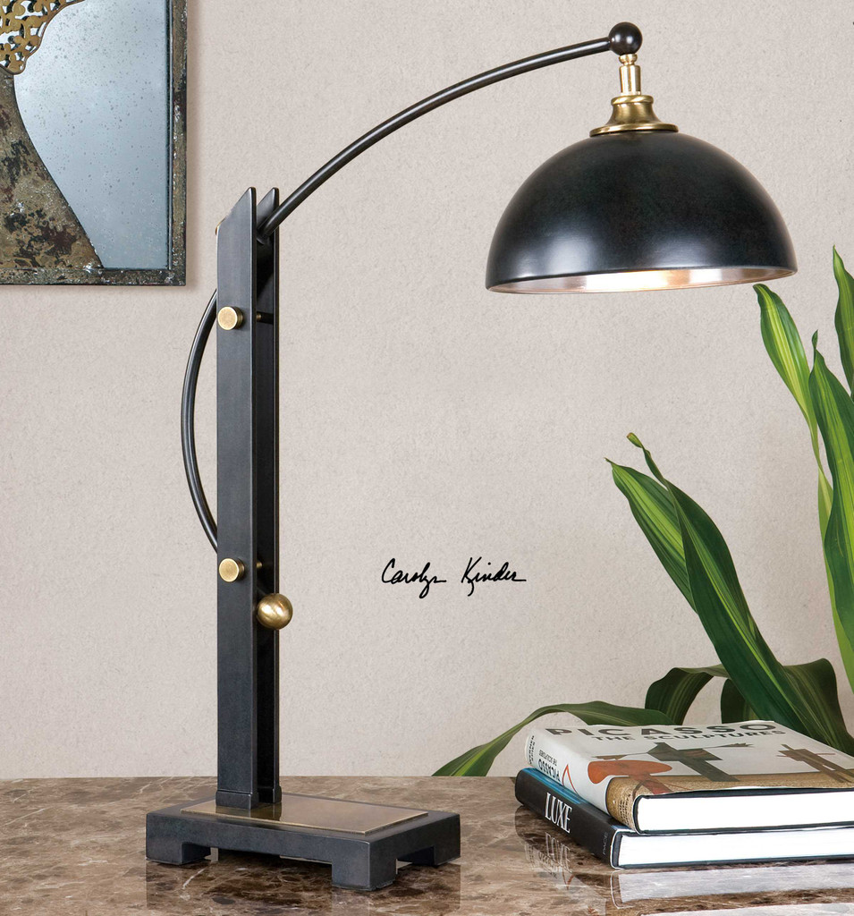 Malcolm Bronze Accent Lamp by Uttermost