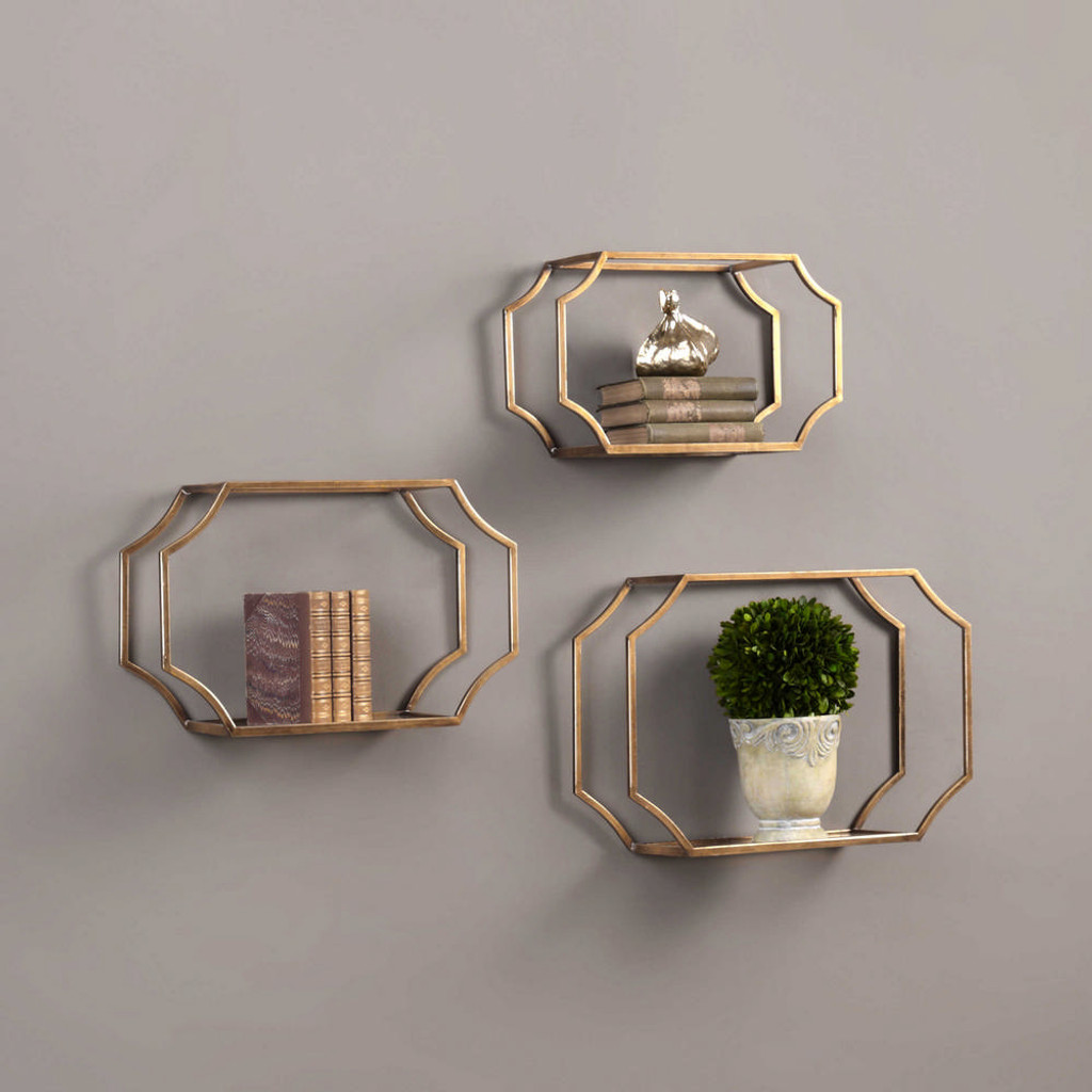 Lindee Wall Shelves S/3