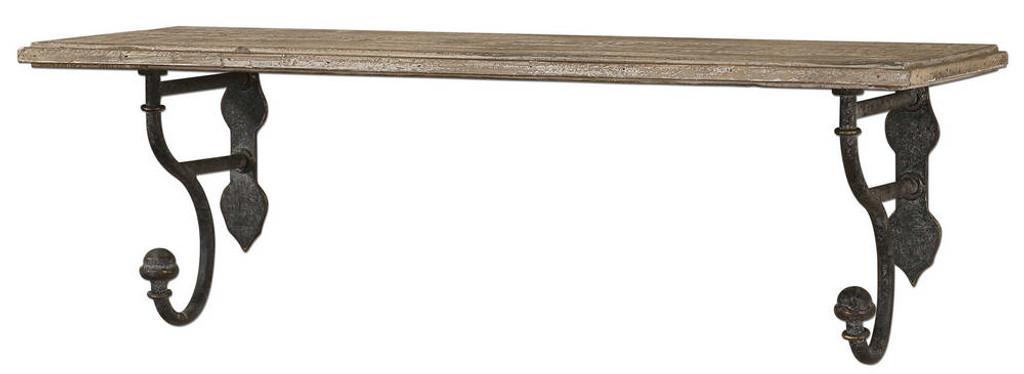 Gualdo Wood Wall Shelf by Uttermost