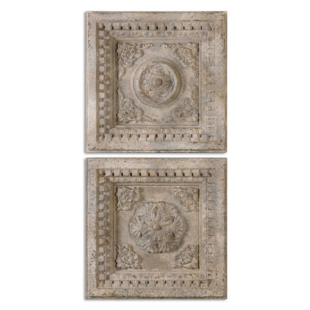 Auronzo Square Wall Decor S/2 by Uttermost