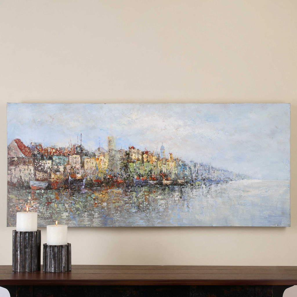 Overlooking The Sea Hand Painted Canvas by Uttermost