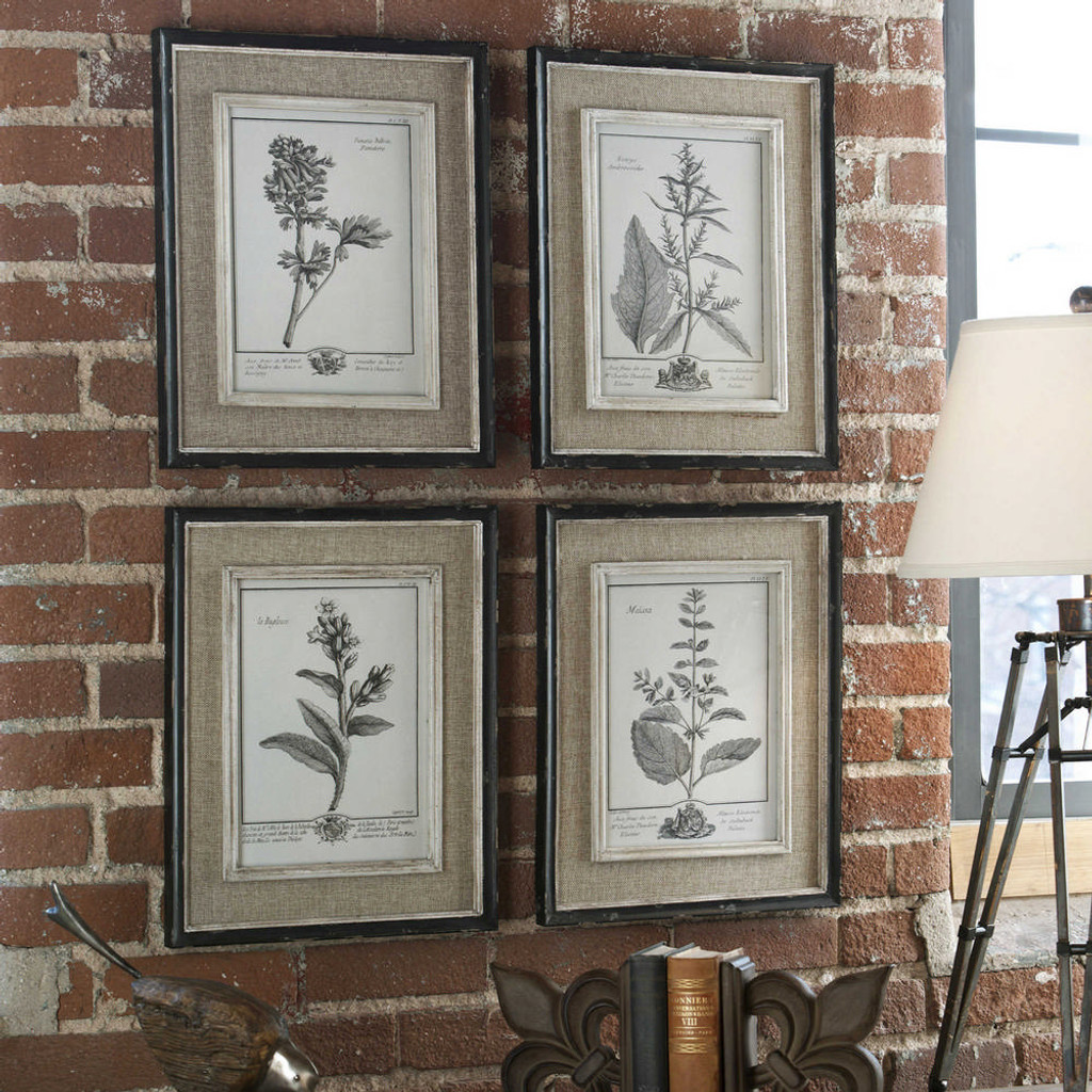Casual Grey Study Framed Prints S/4 by Uttermost